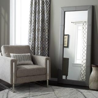 Abbyson Living Delano Grey Leather Floor Mirror