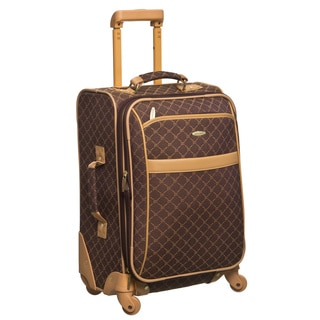 Pierre Cardin 20-inch BrownCarry On Spinner Upright Suitcase