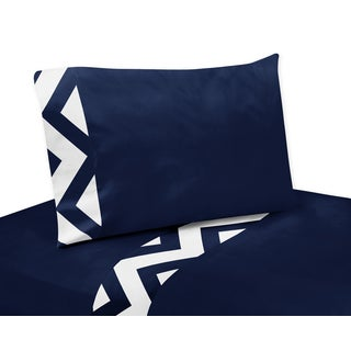 Navy and White Zig-zag Sheet Sets for Sweet Jojo Designs Bedding Collection