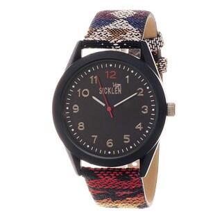 Van Sicklen Men's Stainless Steel 'VAN533GU-M1' Multicolored Canvas Watch