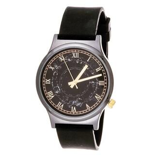 Van Sicklen Men's Gun Metal Steel VAN542GU-BK Black Rubber Watch