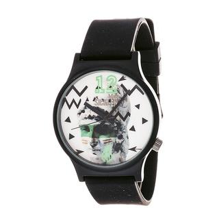 Van Sicklen Men's 'Sculpture' Gunmetal Black Rubber-strap Watch