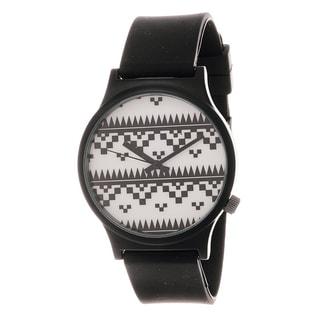 Van Sicklen Men's Black and White Tribal Dial Watch