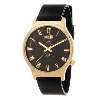 Van Sicklen Men's Goldtone and Black Roman Numeral Watch