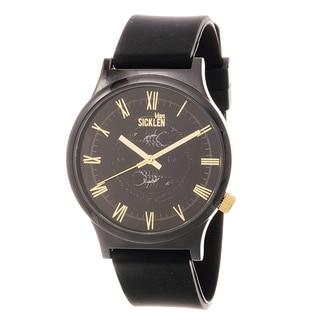 Van Sicklen Men's Gunmetal and Goldtone Roman Numeral Watch