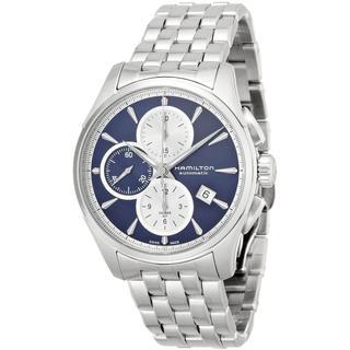 Hamilton Men's H32596141 Jazzmaster Automatic Chronograph Blue Watch