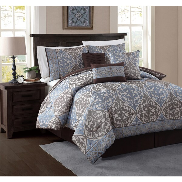 Avondale Manor Jesse Ornate Jacquard 7-piece Comforter Set