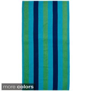 Celebration Velour Cabana Stripe Beach Towel (Set of 2)