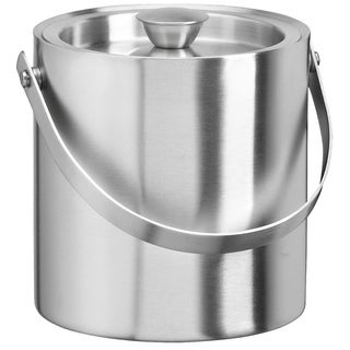 Brushed Stainless Steel 1.5-quart Ice Bucket
