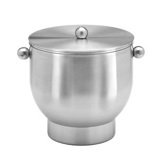 Forme Brushed Stainless Steel 3-quart Ice Bucket with Base and Lid