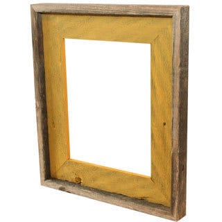 Recherche Furnishings Natural Mustard Recycled and Reclaimed Frame (8 x 10)