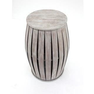 Washed Grey Wooden Accent Table