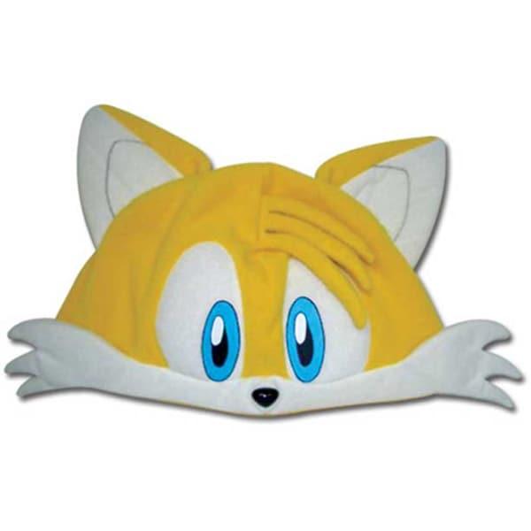 Adult Sonic The Hedgehog Tails Fleece Hat Headpiece