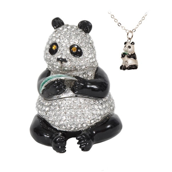 Ling Ling Panda Trinket Box with Pendant