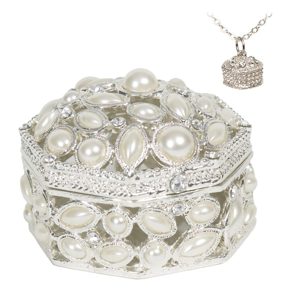 Pearl Trinket Box with Pendant