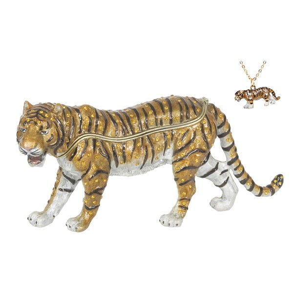 Bengal Tiger Swarovski Crystal Trinket Box