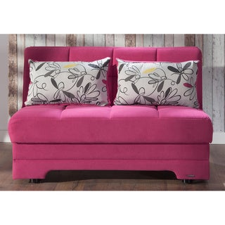 Twist Optimum Convertible Click Clack Fuschia Loveseat Sleeper