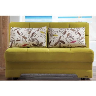 Twist Optimum Convertible Click Clack Green Loveseat Sleeper