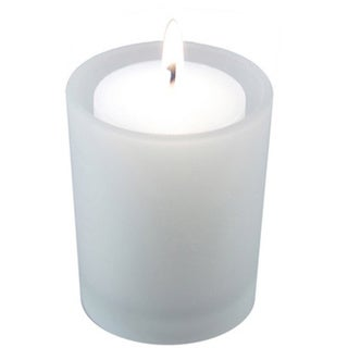36 15-hour Votive Candles with 12 Frosted Holders 14794261