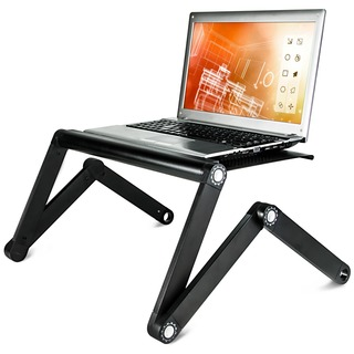 Mount-It! MI-7210 Portable Adjustable Vented Aluminum Laptop Tray