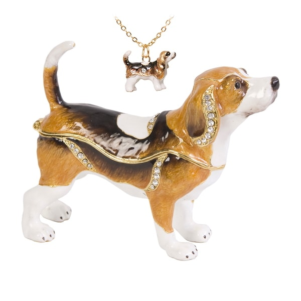 Beauregard the Hound Dog Trinket Box with Pendant