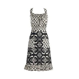 Design Imports Black and White Mixed Print Vintage Apron