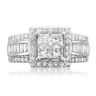 Montebello 14k White Gold 1 3/4ct TDW Princess-cut Diamond Ring (G-H, SI2)