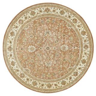 Grand Bazaar Ziba Rust/ Ivory Geometric Area Rug (10' Round)