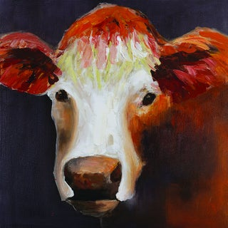 Lone Cow Original Hand painted Wall Art