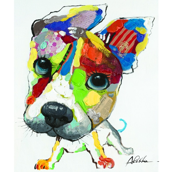 Playful Pooch Original Hand painted Wall Art