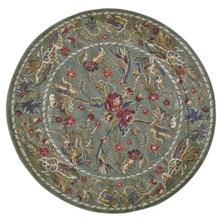 Feizy Wilshire Sage Geometric Area Rug (5'1 Round)