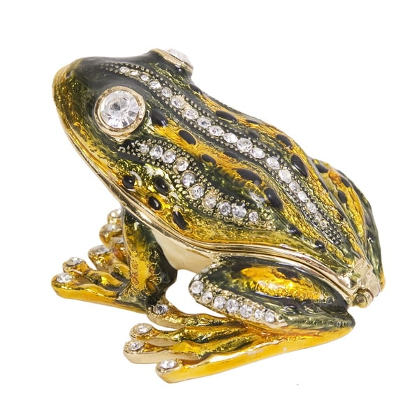 Jumping Frog Flash Trinket Box with Pendant