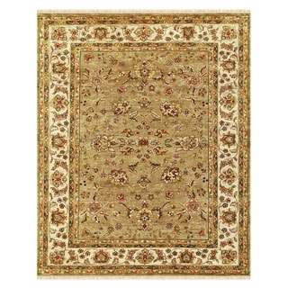 """Grand Bazaar Hand-knotted 100-percent Wool Pile Wimbledon Rug in Sand/Ivory 8'-6"""" x 11'-6"""""""