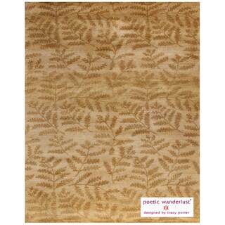 "Grand Bazaar Hand-knotted 100-percent Wool Pile Verdigris Rug in Beige/Multi 8'-6"" x 11'-6"""