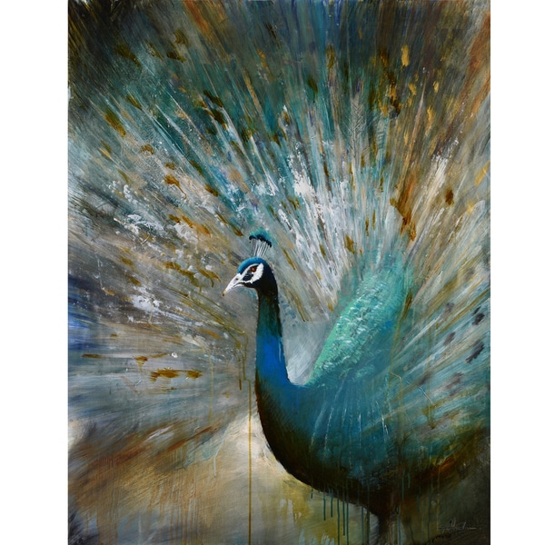 Peacock Prowess Original Hand painted Wall Art
