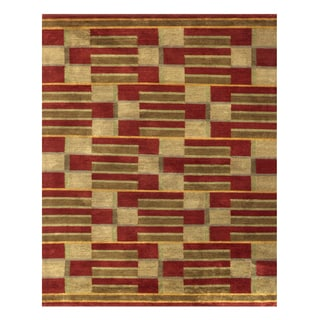 Grand Bazaar Keystone Gold Geometric Area Rug (8'6 x 11'6)