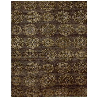 Qing Brown Geometric Area Rug (8'6 x 11'6)