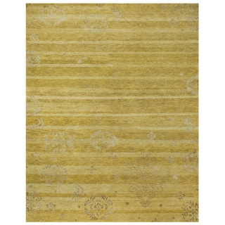 Qing Yellow Geometric Area Rug (8'6 x 11'6)