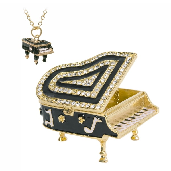 Baby Grand Piano Trinket Box with Pendant