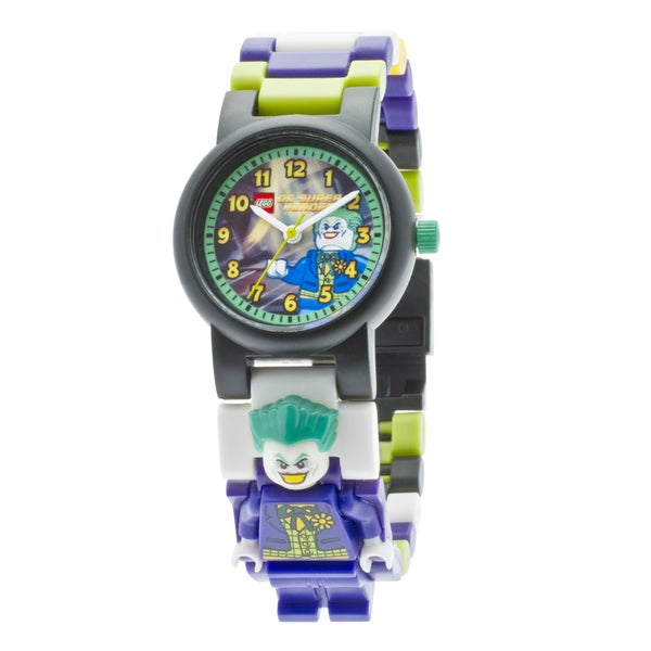 LEGO Super Heroes The Joker Kid's Minifigure Interchangeable Links Watch