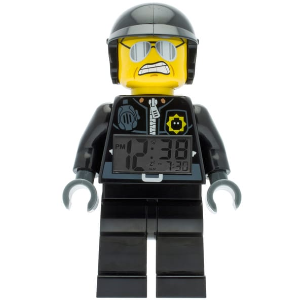 LEGO Movie Bad Cop Kid's Moveable Minifigure Alarm Clock
