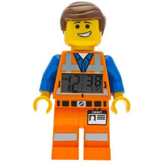 LEGO Movie Emmet Kid's Moveable Minifigure Alarm Clock