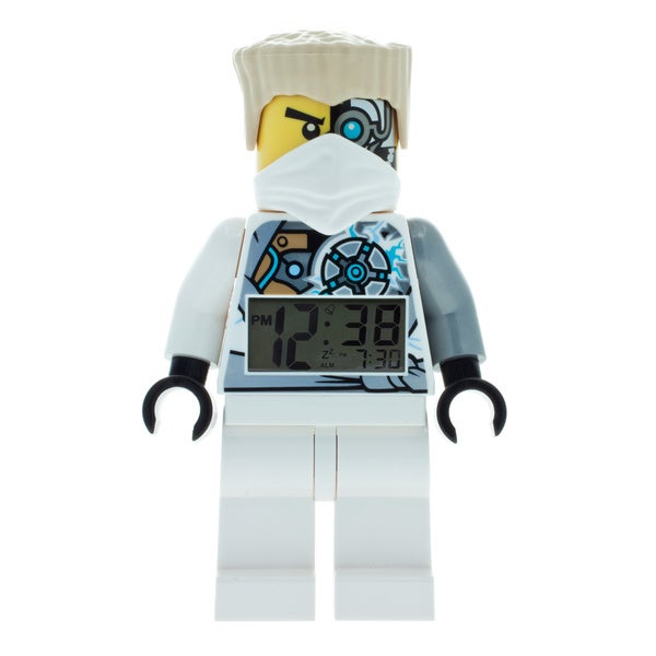 LEGO NINJAGO Zane Kid's Moveable Minifigure Alarm Clock