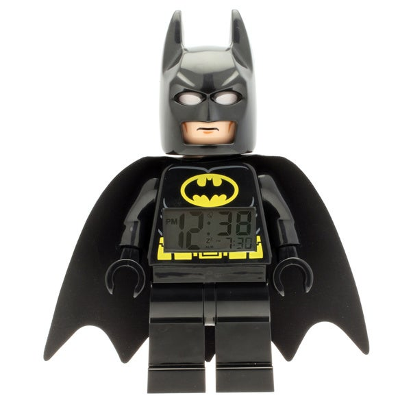 LEGO Super Heroes Batman Kid's Moveable Minifigure Alarm Clock