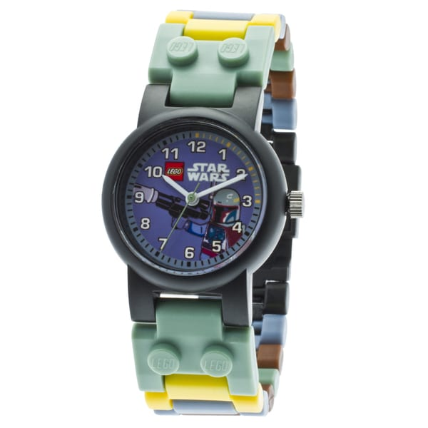 LEGO Star Wars Boba Fett Kid's Minifigure Interchangeable Links Watch