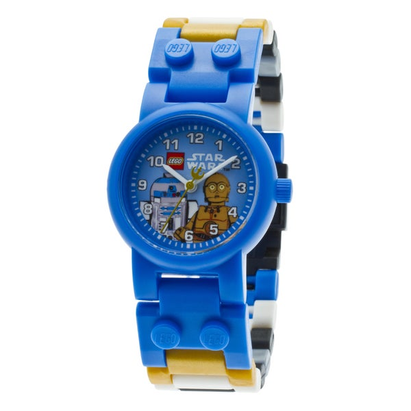 LEGO Star Wars C3PO R2D2 Kid's Minifigures Interchangeable Links Watch