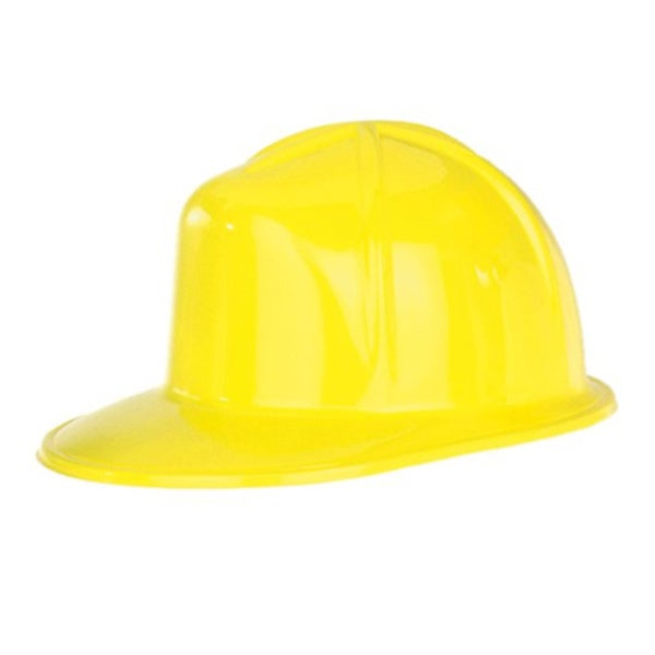 Adult Yellow Plastic Hard Hat Costume Accessory