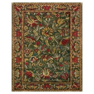 Grand Bazaar Tufted 100-percent Wool Pile Natasha Rug in Green/Green 7' X 9'