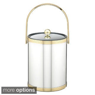 Mylar II Metallic 5-quart Ice Bucket with Metal Lid