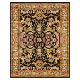 Grand Bazaar Tufted 100-percent Wool Pile Natasha Rug in Black/Beige 7' X 9'